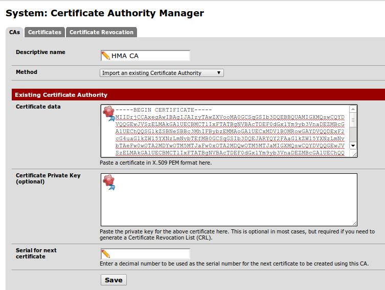 Configurer un client OpenVPN vers HideMyAss (HMA) sous